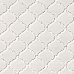 White Glossy Arabesque - Porcelain - Glossy - 12X12
