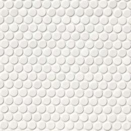 White Glossy Penny Round Mosaic - Porcelain - Glossy - 12X12