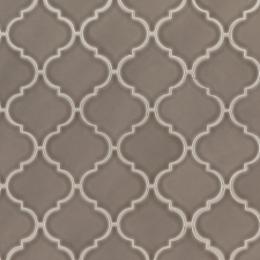 Artisan Taupe Arabesque - Ceramic - Glossy - 12X12