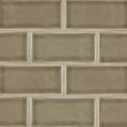 Artisan Taupe Subway - Ceramic - Glossy - 3X6