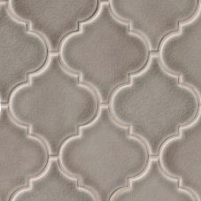 Dove Gray Arabesque - Ceramic - Glossy - 12X12