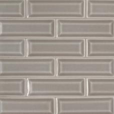 Dove Gray Beveled - Ceramic - Glossy - 2X6