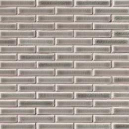 Dove Gray Brick  - Ceramic - Glossy - 12X12