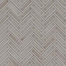 Dove Gray Herringbone - Ceramic - Glossy - 12X12
