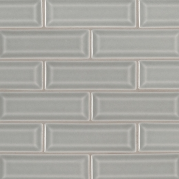 Morning Fog Beveled - Ceramic - Glossy - 2X6