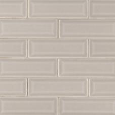 Portico Pearl Beveled - Ceramic - Glossy - 2X6
