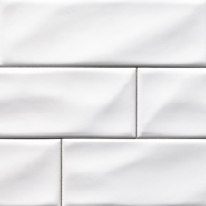 Whisper White  - Ceramic - Glossy - 4X12