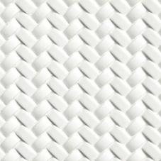 Whisper White Arched Herringbone - Ceramic - Glossy - 12X12