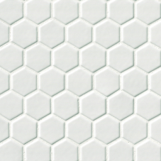 "Whisper White 2"" Hexagon - Ceramic - Glossy - 12X12"