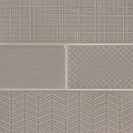 Warm Concrete 3D Mix - Ceramic - Glossy - 4X12