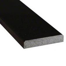 Black Granite 6x36x0.75 Polished Double Beveled Threshold