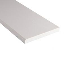 Engineered White Marble 6x37x0.62 Polished Single Beveled