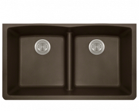 Mocha Double Equal Bowl Low Divide Undermount- 812