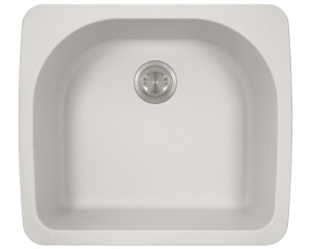 White D Bowl Topmount -T824