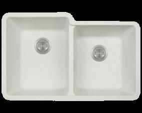 White Double Offset Bowl-801