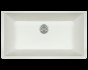 White Single Bowl Undermount-848
