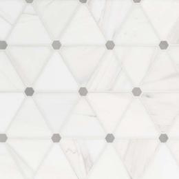 Bianco Dolomite Pinwheel - Marble - Polished - 12X12