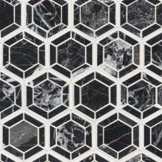 Hexagono Nero - Marble - Polished - 12X12