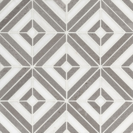 Rhombix Dove - Marble - Polished - 12X12